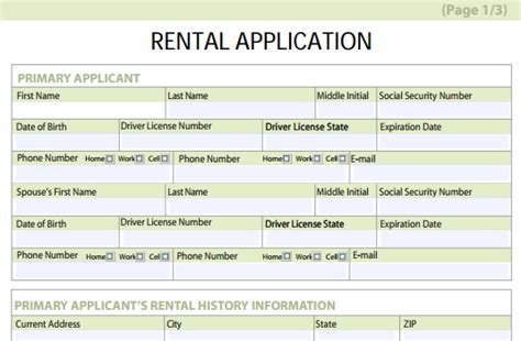 Rental Credit Application Template Free Rental Application Forms Free And Software Reviews Cnet