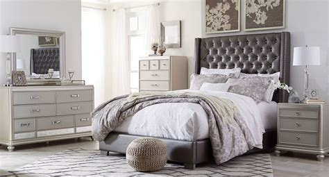 upholstered bedroom furniture coralayne upholstered bedroom set bedroom sets bedroom