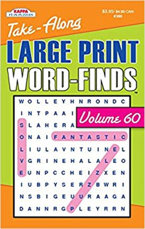 and large print books take along large print word find puzzle book vol 60 kappa
