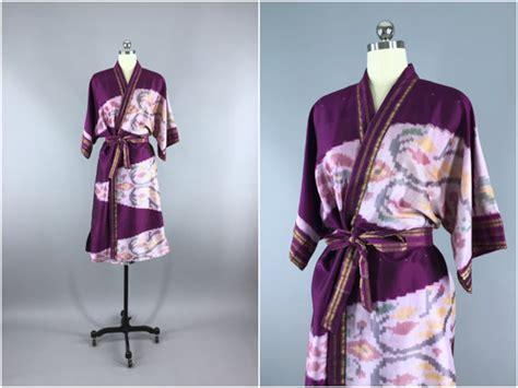 indian pattern kimono silk robe silk sari robe silk kimono robe vintage indian