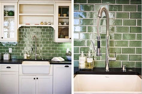 Kitchen Backsplash Green Green Tile Backsplash Since My Backsplash Hasn T Been Installed Yet I Ve Gathered Some