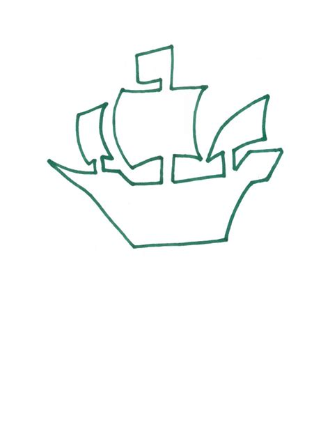 pirate ship cut out template pirate ship template