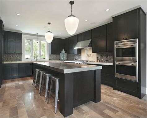 Light Grey Kitchen Cabinets With Black Counters cabinets grey countertops and cabinets on