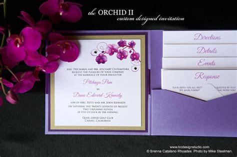 Impressive Orchid Wedding Invitations Theruntime Com Orchid Wedding Invitation Template