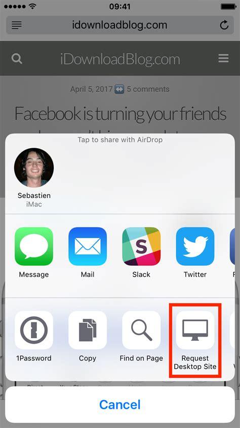 full version facebook iphone safari refresh symbol