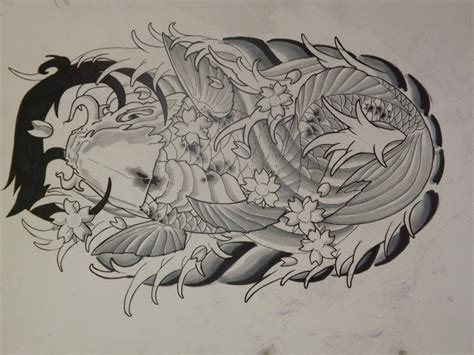 koi fish with dragon tattoo designs koi fish tattoos designs cool tattoos designs