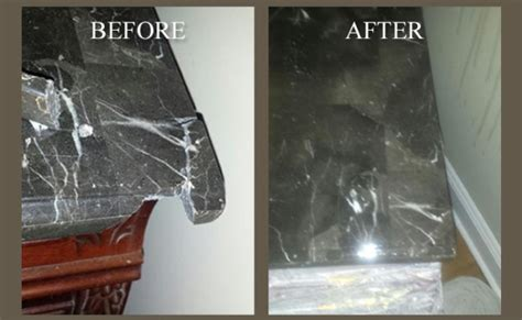 How To Repair Marble Countertop by Before After Broken Marble Countertop Repair Palm