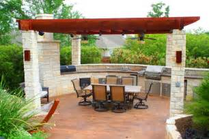 Outdoor living space is not complete without hardscaping such designs