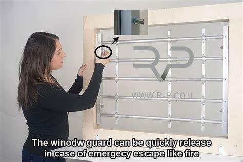 interior window bars release qiuck release aluminum window guard 4 bars saver