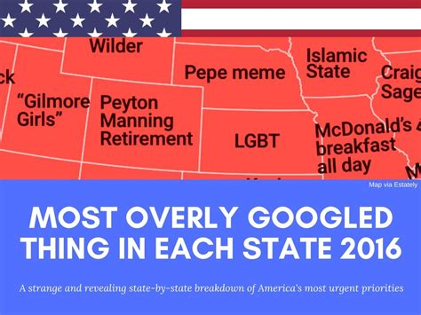 what is the most googled thing most overly googled thing in each state 2016 from harambe