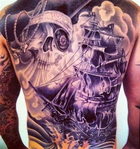 pirate themed tattoos by eric ziobrowski medford ny tattoos