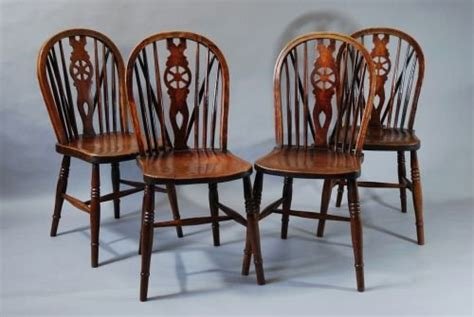 Chairs For Sale Uk by Set Of Four 19thc Wheelback Chairs 144486
