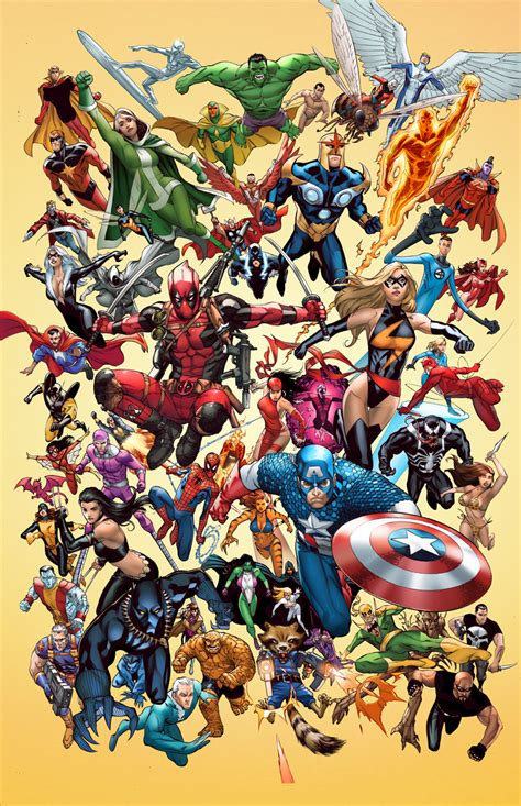 in color dc lineup marvel poster by teogonzalezcolors on deviantart