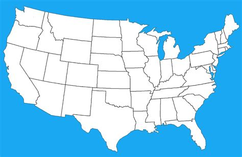map of th usa blank map of mainland usa by dinospain on deviantart