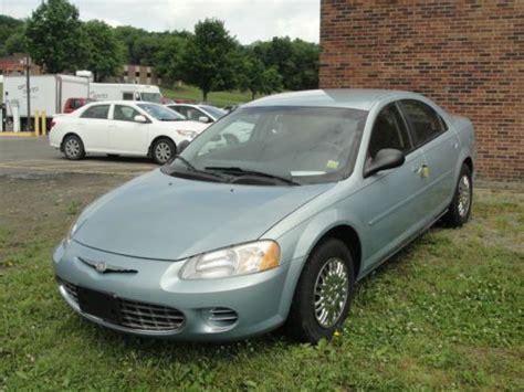 2002 Chrysler Sebring Sedan by Sell Used 2002 Chrysler Sebring Lx 4 Door Sedan No Reserve