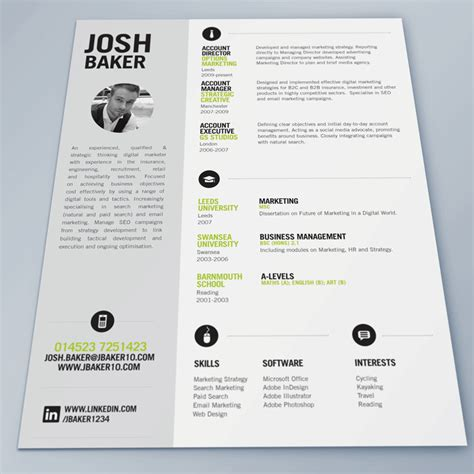 best creative resumes best cv template search possible diy ideas
