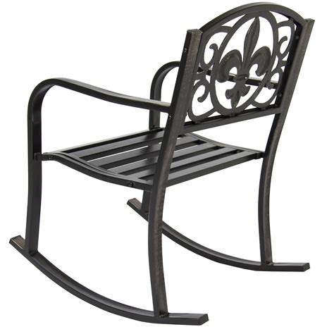 Patio Glider Chairs Metal Patio Metal Rocking Chair Porch Seat Deck Outdoor Backyard