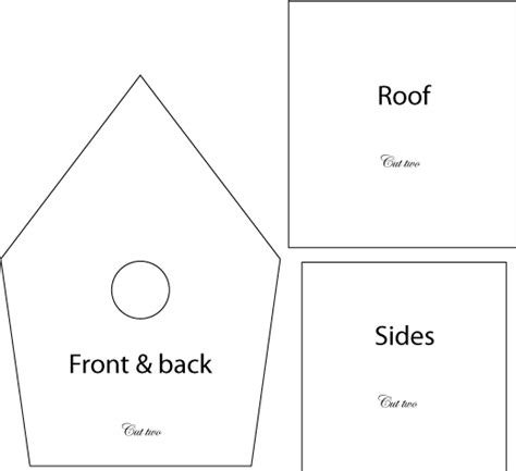 birdhouse templates birdhouse treat boxes for a birthday she
