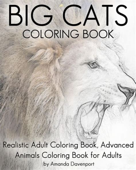 coloring books for adults barnes and noble big cats coloring book realistic coloring book