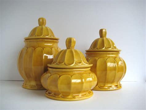 Kitchen Canisters Sets Mustard Canister Set Vintage Canister Set Ceramic