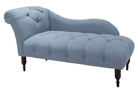denim chaise frances single arm tufted chaise denim