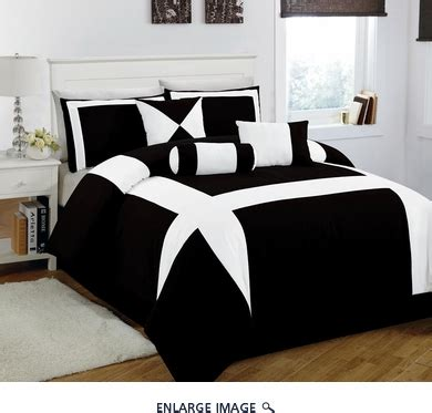 white and black comforter sets queen 7 piece cal king