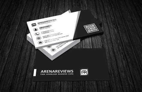 and white card template black white corporate business card template free