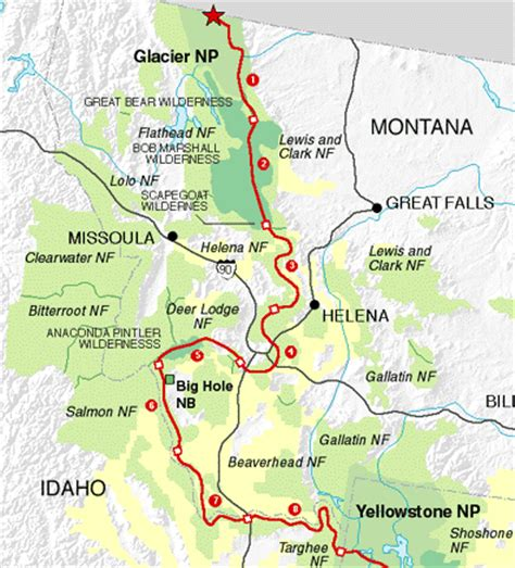continental divide map cdt continental divide trail maps by state