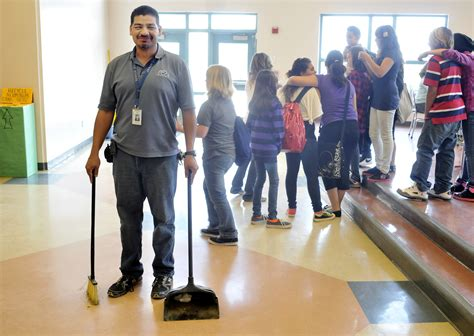 janitor crew chief wins district acclaim albuquerque journal