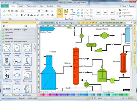 flow diagram software process flow diagram draw process flow by starting with