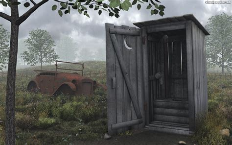 out house free 3d wallpaper outhouse 1440x900 wide screen
