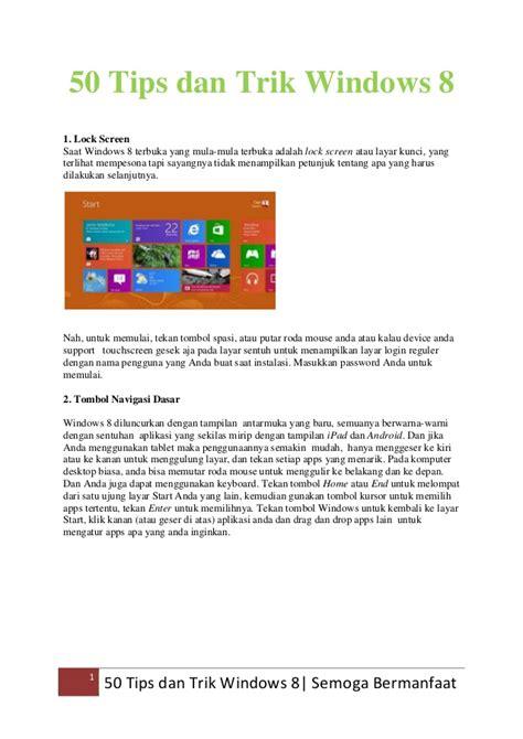 Windows 8 1 Hack Tips Trik 50 tips dan trik windows 8