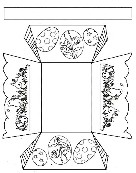 free coloring pages of easter baskets templates