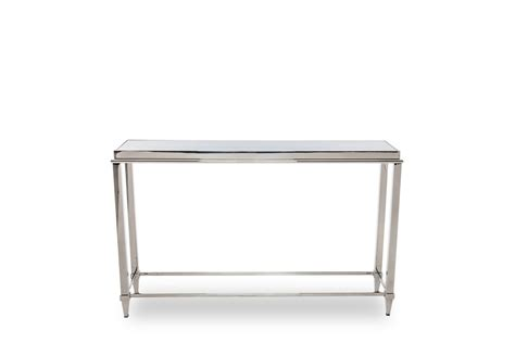 glass stainless steel desk modrest agar modern glass stainless steel console table