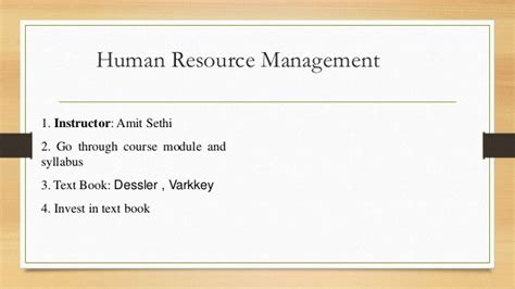 Mba Notes Of Human Resource Management by Human Resource Management Unit No 1