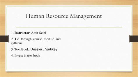 International Human Resource Management Notes Mba by Human Resource Management Unit No 1