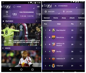sports apps for android bein sports unblock the world s best sports channel