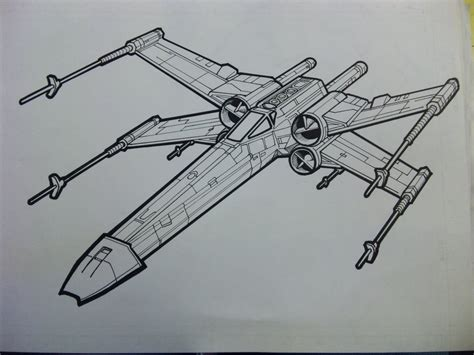 x wing starfighter coloring page x wing lineart by yumezaka on deviantart