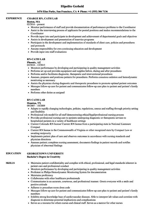 sle resume for machinist sle resume for cath lab cath lab tech resume resume