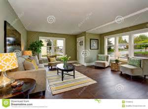 Well Decorated Homes Lovely Living Room With Green And Yellow Theme Stock Photo Image 57589016