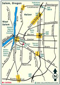 salem oregon major streets map