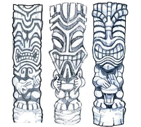 tribal tiki tattoo doing a tiki design here s the