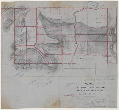 Camden County Records Camden County Plan Of Twenty Five Potions Near Broughton Creek County Of Camden