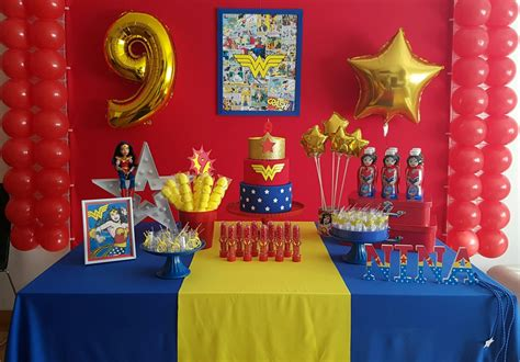 decoracion fiesta ideas para decorar una fiesta infantil mujer maravilla