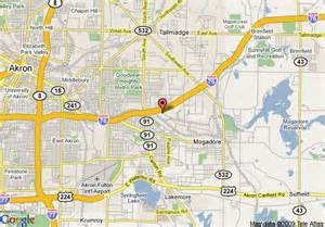 Akron Ohio Map by Map Of Best Western Executive Inn Of Akron Akron