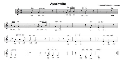heidi sigla testo musica e spartiti gratis per flauto dolce auschwitz