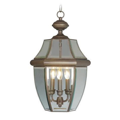 Pendant Outdoor Lighting Shop Livex Lighting Monterey 21 In Bronze Outdoor Pendant Light At Lowes