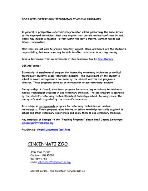 Recommendation Letter For Facilitator Best Photos Of Veterinary Technician Resume Cover Letter Vet Tech Cover Letter Veterinary