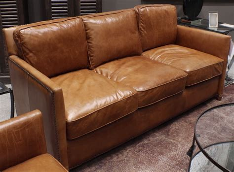 distressed light brown leather sofa 71 quot l beautiful sofa distressed top grain light brown soft
