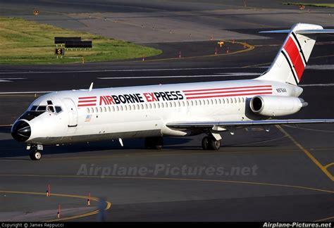 n976ax airborne express mcdonnell douglas dc 9 at boston general edward logan intl